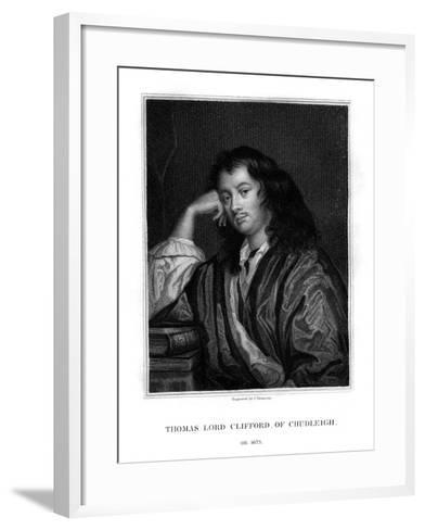 Thomas Clifford, 1st Baron Clifford of Chudleigh, English Statesman and Politician-J Thomson-Framed Art Print