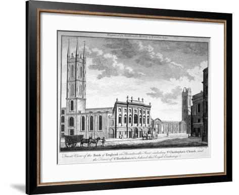 Front View of the Bank of England, City of London, 1773-J Collyer-Framed Art Print