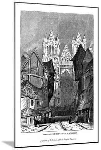 West Front of the Cathedral at Rheims, 1843-J Jackson-Mounted Giclee Print