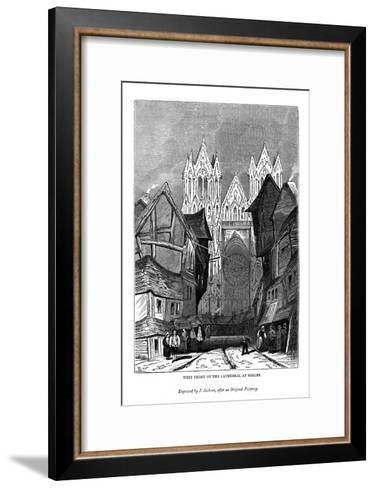 West Front of the Cathedral at Rheims, 1843-J Jackson-Framed Art Print