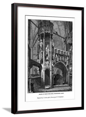 Shrine of Henry V, Westminster Abbey, 1843-J Jackson-Framed Art Print
