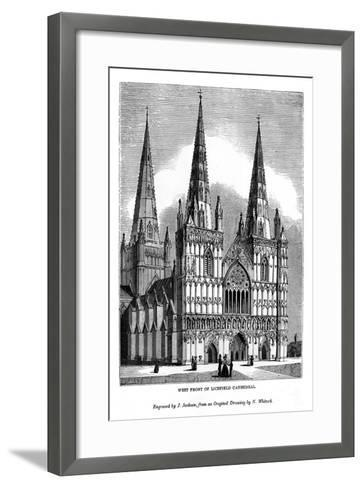 West Front of Lichfield Cathedral, 1843-J Jackson-Framed Art Print