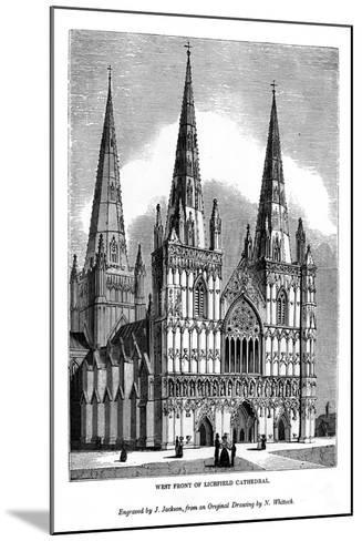 West Front of Lichfield Cathedral, 1843-J Jackson-Mounted Giclee Print