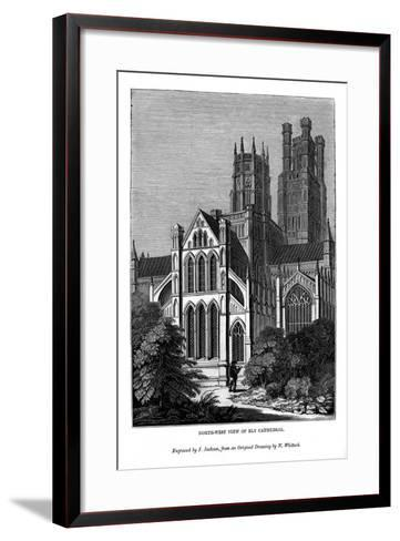 North West View of Ely Cathedral, 1843-J Jackson-Framed Art Print