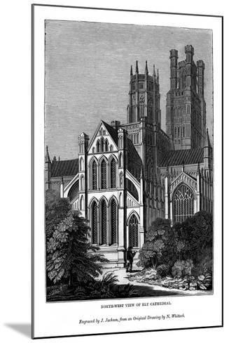 North West View of Ely Cathedral, 1843-J Jackson-Mounted Giclee Print