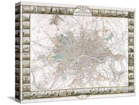 Map of London, 1851-J Rapkin-Stretched Canvas Print