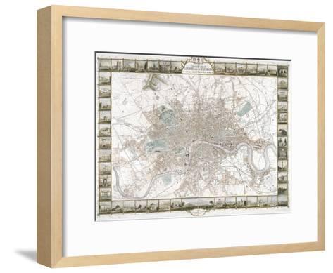 Map of London, 1851-J Rapkin-Framed Art Print