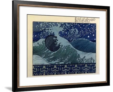 Illustration for the Poem the Tale of Tsar Saltan by Aleksandr Pushkin, 1905-Ivan Bilibin-Framed Art Print