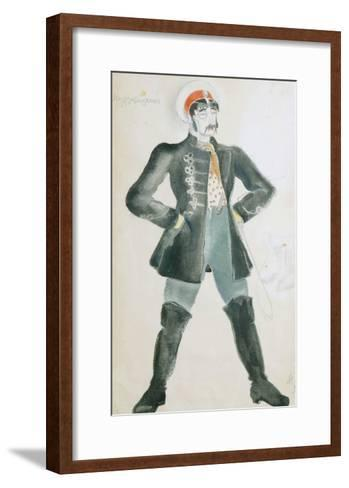 Costume Design for the Theatre Play Wolves and Sheep, 1934-Ivan Fedotov-Framed Art Print