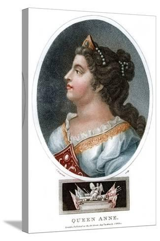 Queen Anne (1665-171), 1804-J Chapman-Stretched Canvas Print