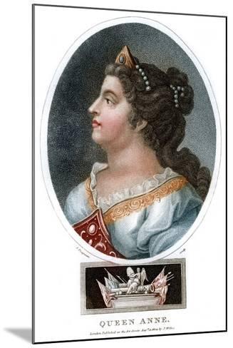 Queen Anne (1665-171), 1804-J Chapman-Mounted Giclee Print