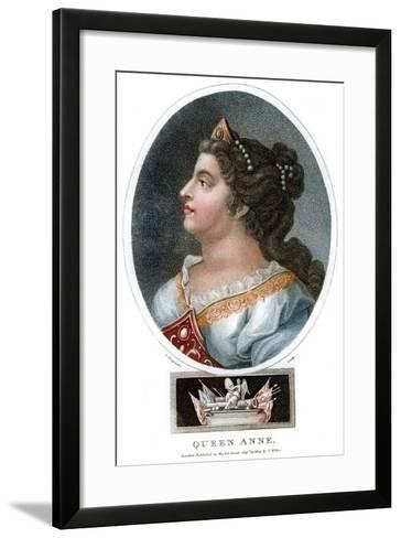 Queen Anne (1665-171), 1804-J Chapman-Framed Art Print