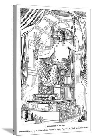The Jupiter of Phidias, 1843-J Jackson-Stretched Canvas Print
