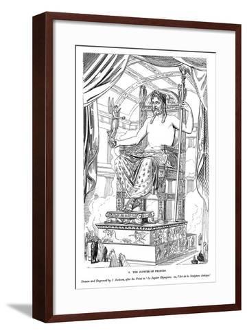 The Jupiter of Phidias, 1843-J Jackson-Framed Art Print