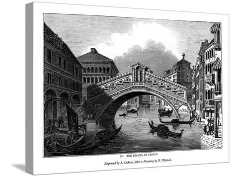 The Rialto at Venice, 1843-J Jackson-Stretched Canvas Print