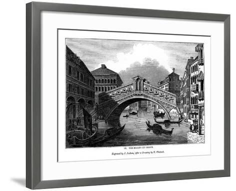 The Rialto at Venice, 1843-J Jackson-Framed Art Print