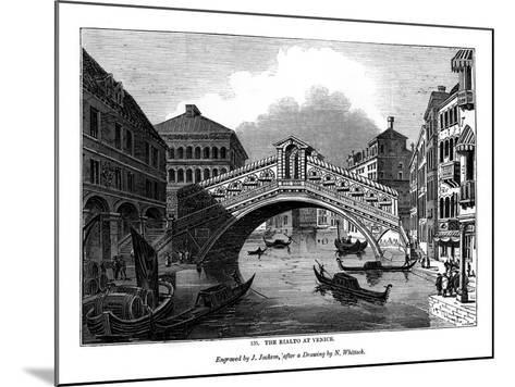 The Rialto at Venice, 1843-J Jackson-Mounted Giclee Print