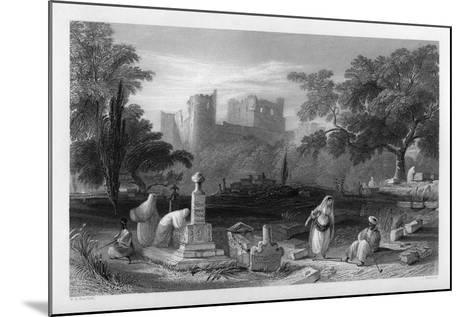 A Turkish Burial Ground at Sidon, Lebanon, 1841-J Redaway-Mounted Giclee Print