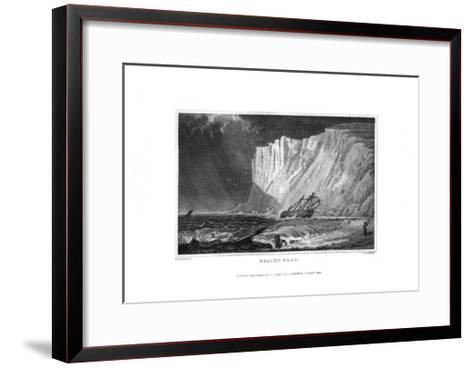 Beachy Head, East Sussex, 1829-J Rogers-Framed Art Print