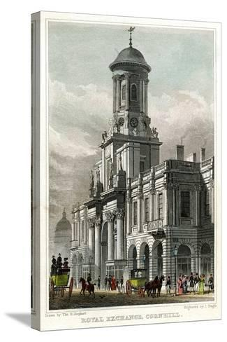Royal Exchange, Cornhill, City of London, 1829-J Tingle-Stretched Canvas Print