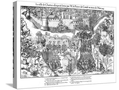 Siege of Chartres, French Religious Wars, 1568-Jacques Tortorel-Stretched Canvas Print