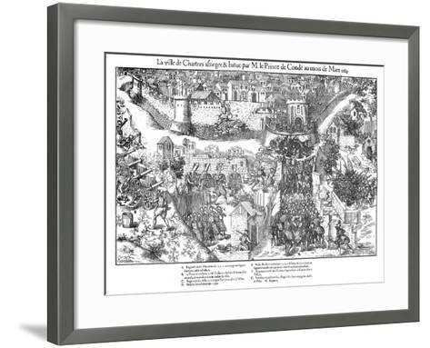 Siege of Chartres, French Religious Wars, 1568-Jacques Tortorel-Framed Art Print