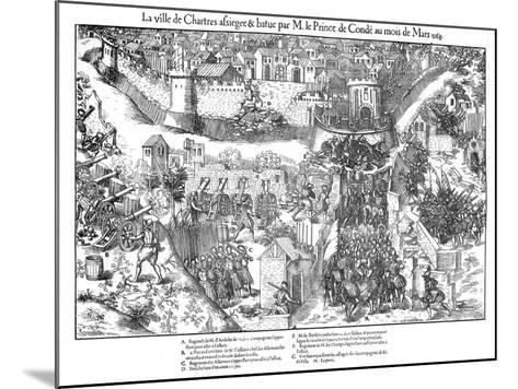 Siege of Chartres, French Religious Wars, 1568-Jacques Tortorel-Mounted Giclee Print