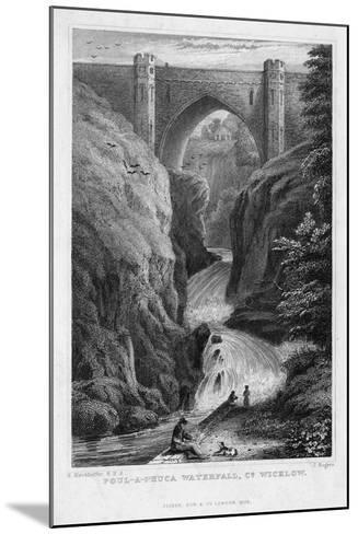 Poul a Phuca Waterfall, County Wicklow, 1829-J Rogers-Mounted Giclee Print