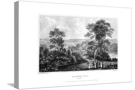 Richmond Hill, Surrey, England, 1829-J Rogers-Stretched Canvas Print