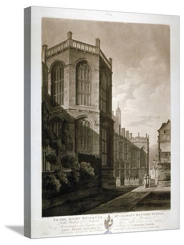North-East View of St George's Chapel, Windsor Castle, Berkshire, 1804-J Jeakes-Stretched Canvas Print