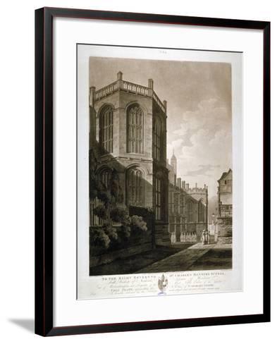 North-East View of St George's Chapel, Windsor Castle, Berkshire, 1804-J Jeakes-Framed Art Print