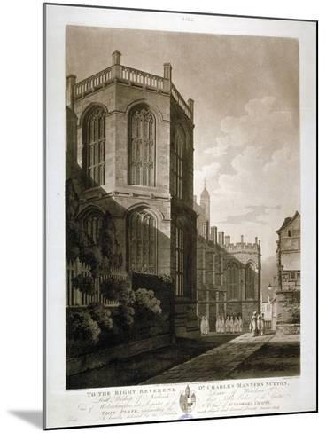 North-East View of St George's Chapel, Windsor Castle, Berkshire, 1804-J Jeakes-Mounted Giclee Print