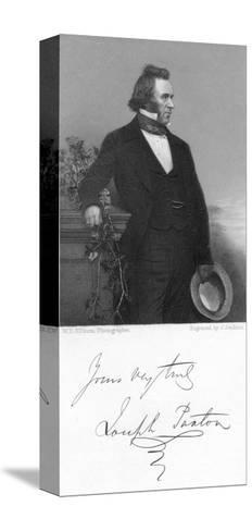 Joseph Paxton, English Gardener and Architect, 1853-J Jenkins-Stretched Canvas Print
