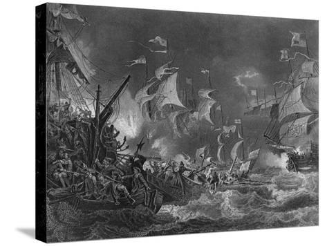 The Defeat of the Spanish Armada, 1588-J Rogers-Stretched Canvas Print