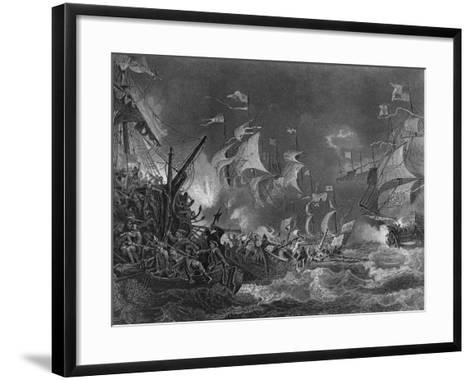 The Defeat of the Spanish Armada, 1588-J Rogers-Framed Art Print