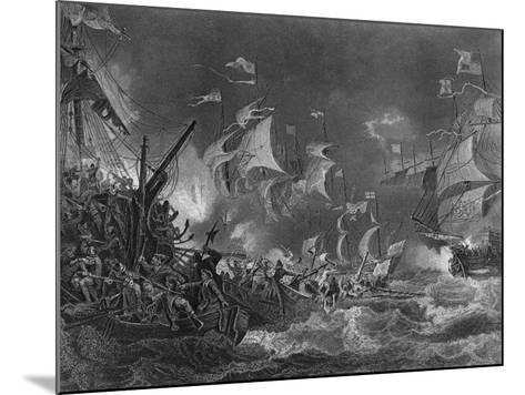 The Defeat of the Spanish Armada, 1588-J Rogers-Mounted Giclee Print