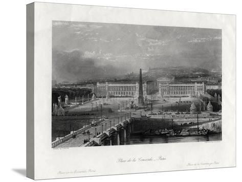 Place De La Concorde, Paris, France, 1875-J Saddler-Stretched Canvas Print