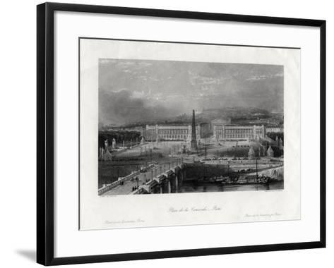Place De La Concorde, Paris, France, 1875-J Saddler-Framed Art Print