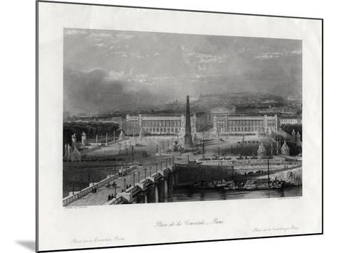 Place De La Concorde, Paris, France, 1875-J Saddler-Mounted Giclee Print