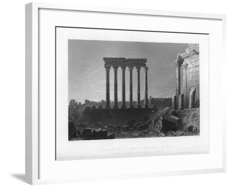 Pillars of the Great Temple at Balbec, 1841-J Sands-Framed Art Print