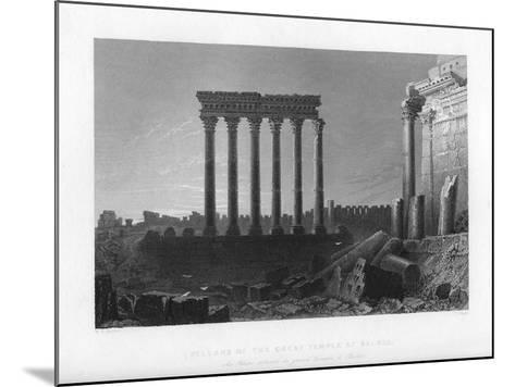 Pillars of the Great Temple at Balbec, 1841-J Sands-Mounted Giclee Print