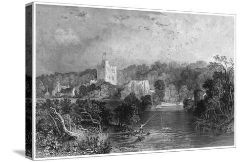 Bothal Castle, Northumberland, 19th Century-J Sands-Stretched Canvas Print