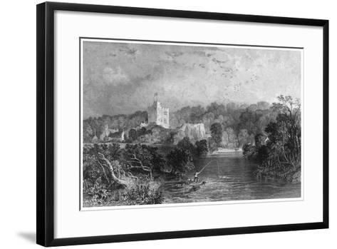 Bothal Castle, Northumberland, 19th Century-J Sands-Framed Art Print