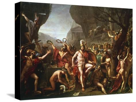 Leonidas at Thermopylae, 5th Century BC-Jacques-Louis David-Stretched Canvas Print