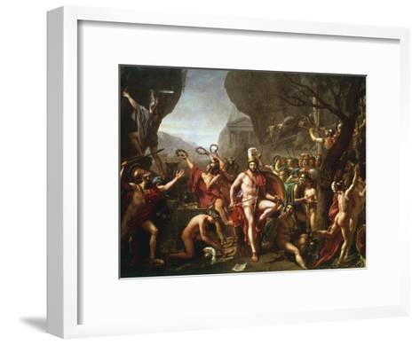 Leonidas at Thermopylae, 5th Century BC-Jacques-Louis David-Framed Art Print
