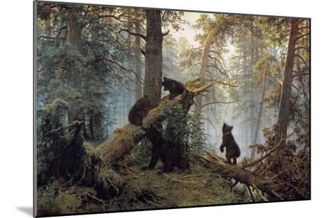 Morning in a Pinewood, 1889-Ivan Shishkin-Mounted Giclee Print
