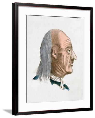 The Facial Characteristics of a Jovial and Kind Person, 1808-Johann Kaspar Lavater-Framed Art Print
