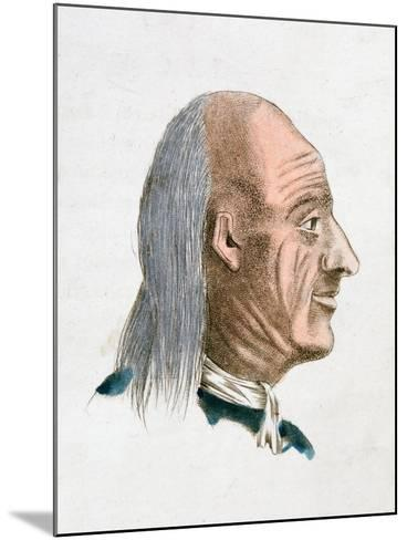 The Facial Characteristics of a Jovial and Kind Person, 1808-Johann Kaspar Lavater-Mounted Giclee Print