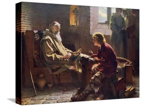 The Venerable Bede Translating the Last Chapter of St John, 1926-James Doyle Penrose-Stretched Canvas Print