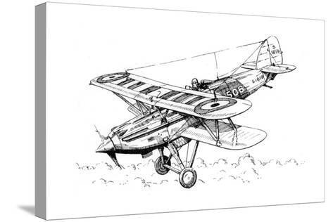 A Hawker Nimrod Aeroplane, C1930S-James Hay Stevens-Stretched Canvas Print